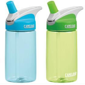 CamelBak Eddy Bottle Kids 400ml 2-Pack Blue/Grass